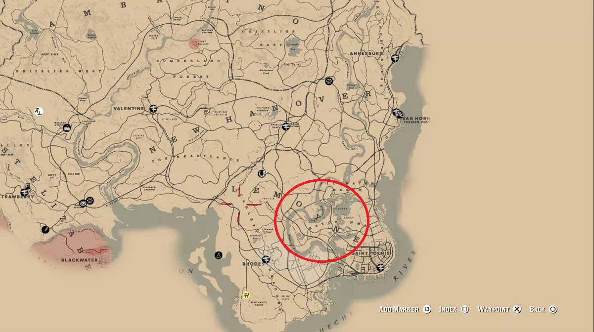 carte-emplacement-laurier-rose-red-dead-redemption-2