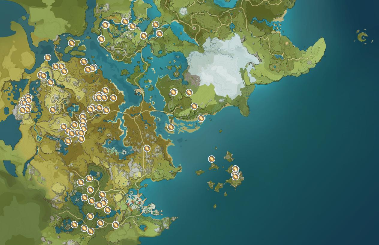 Coeur de Lapis localisation dans Genshin Impact, où les ...