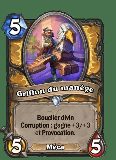 griffon-manege-carte-hearthstone-extension-folle-journee-sombrelune