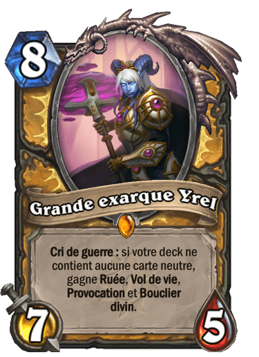grande-exarque-yrel-carte-hearthstone-extension-folle-journee-sombrelune