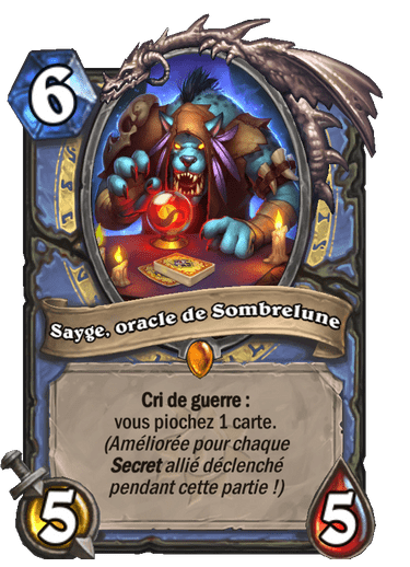 sayge-oracle-sombrelune-carte-hearthstone-extension-folle-journee-sombrelune