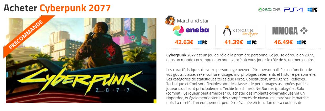 DLCompare-cyberpunk-2077-moins-cher