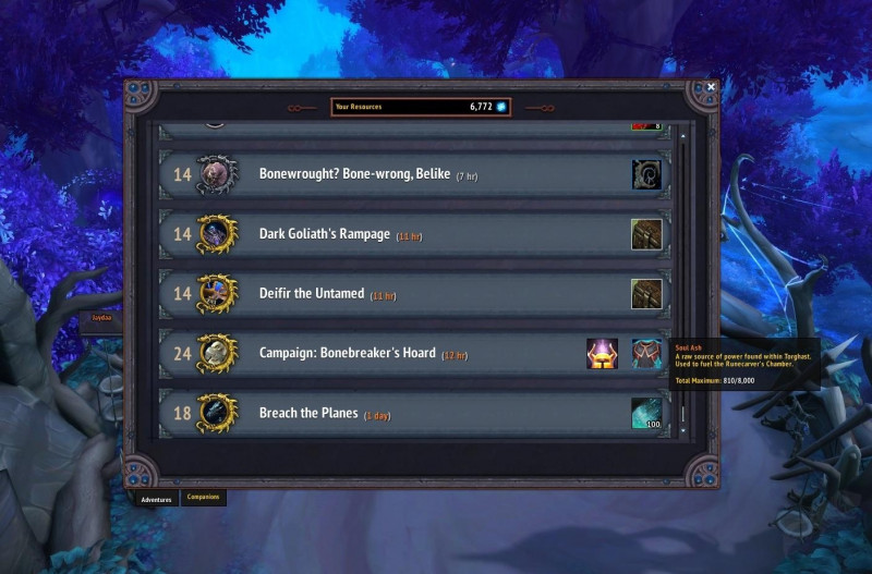 missions-aventures-cendres-ames-wow-shadowlands
