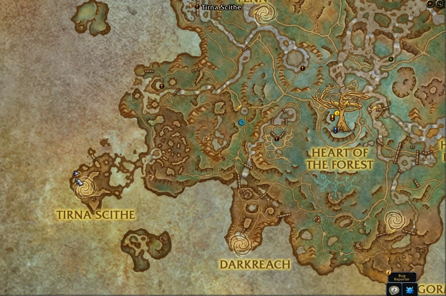 jument-nocturne-tirna-scite-emplacement-wow-shadowlands