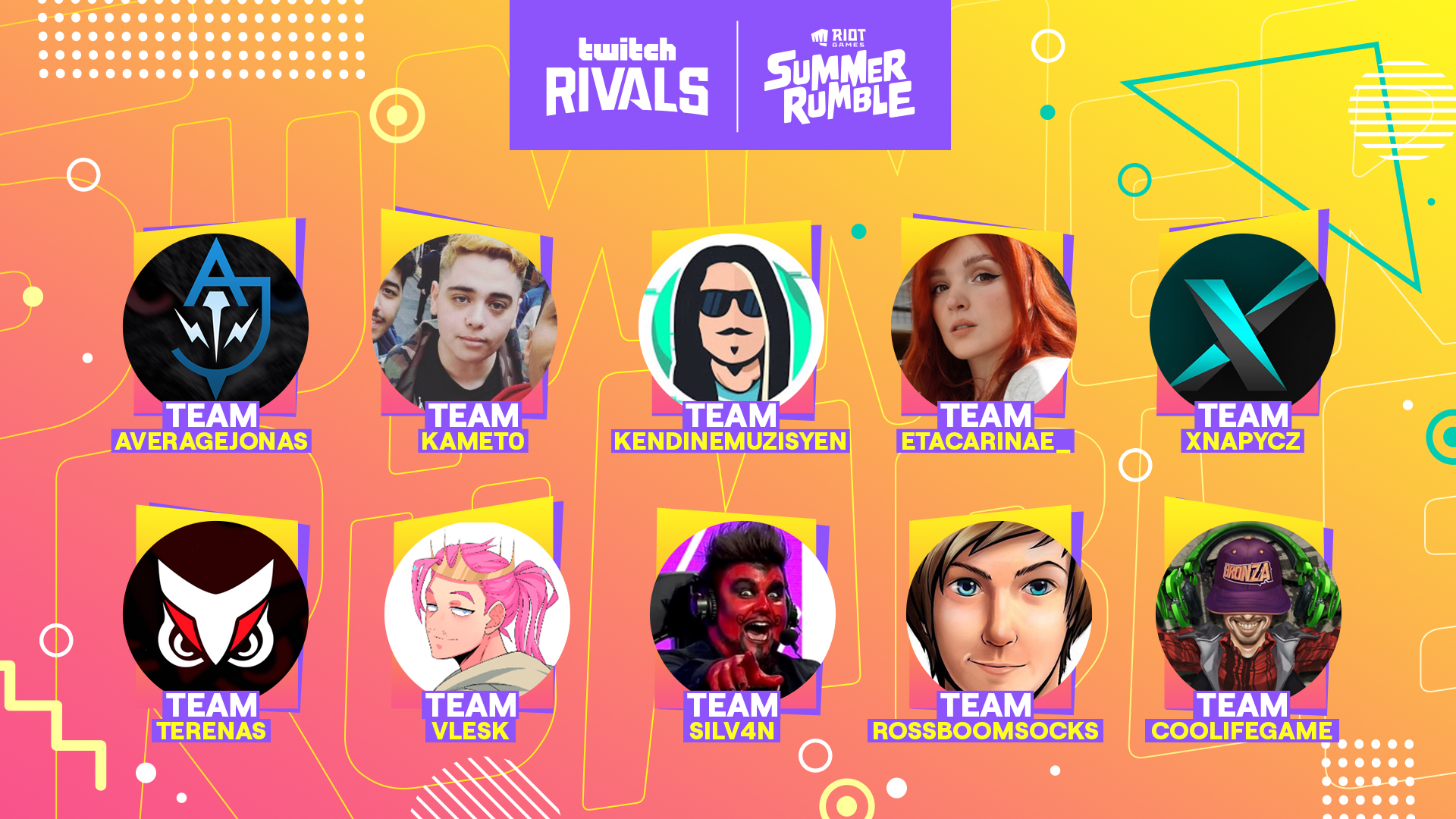Twitch-Rivals-Equipes