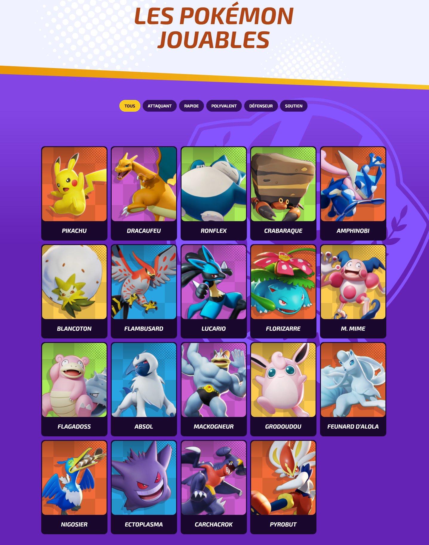 pokémon-unite-pokémon-jouables