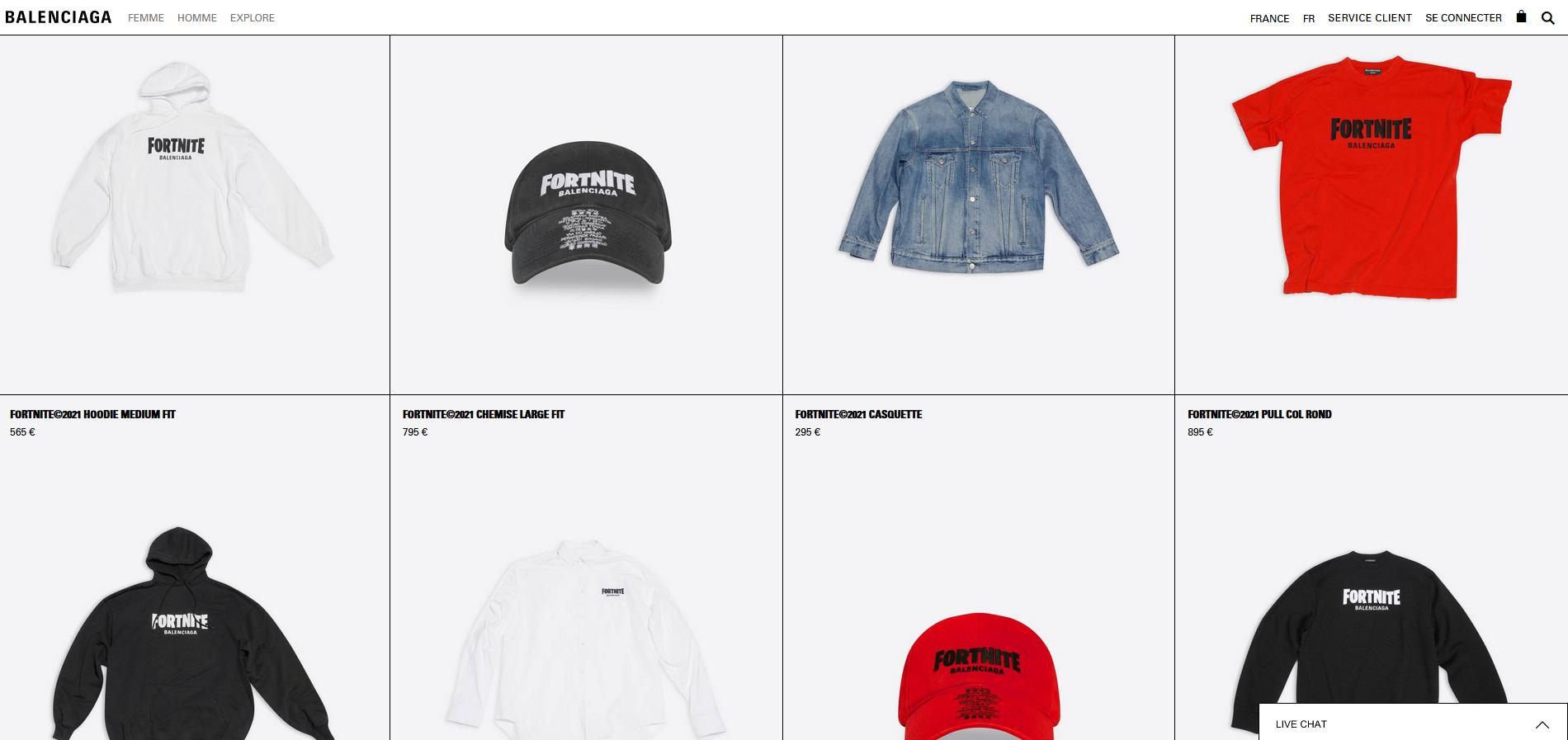 fortnite-acheter-collection-balenciaga