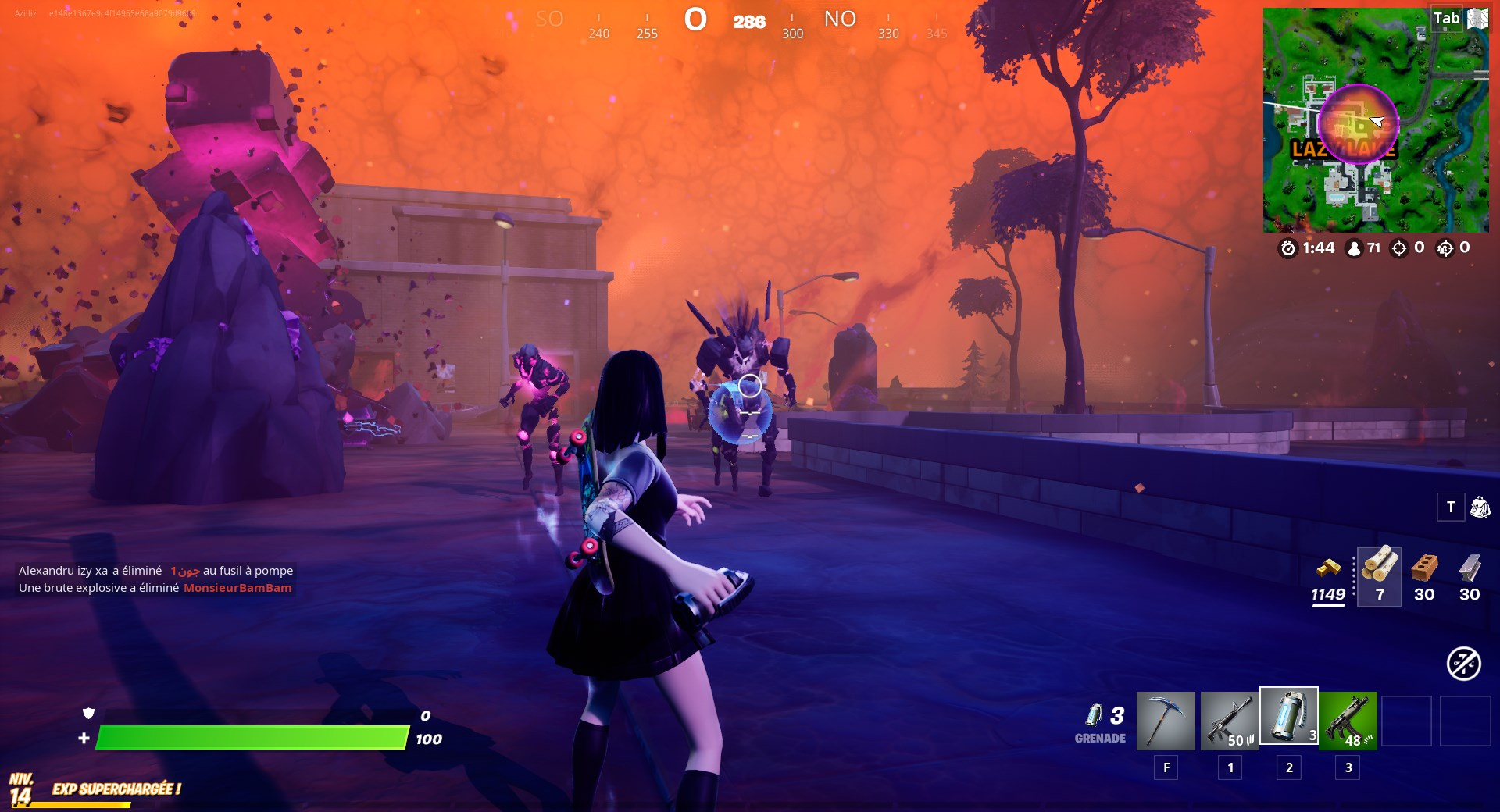 elimination-arme-explosive-monstre-cube-fortnite