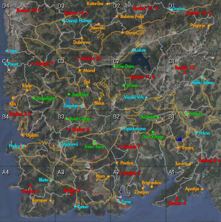 Carte Bunker Bretagne.Scum Carte Des Bunkers Villes Et Postes De Police