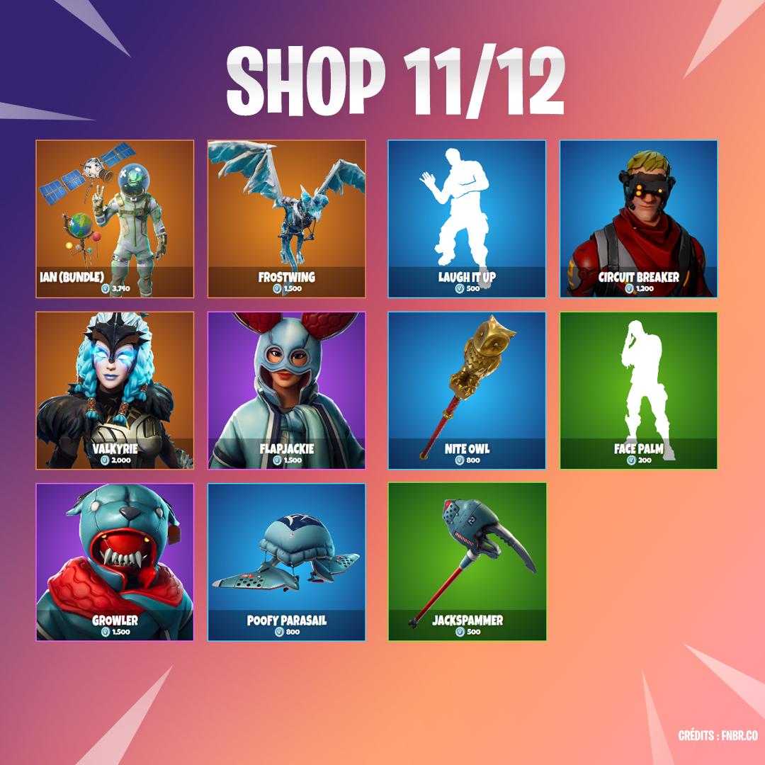 Boutique Fortnite 11 décembre - Breakflip - Actualité eSport et jeu ... b5d2ea273113