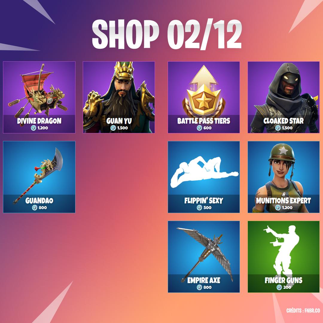 Boutique Fortnite 2 décembre - Breakflip - Actualité eSport et jeu vidéo 8bfbdf9c26ca