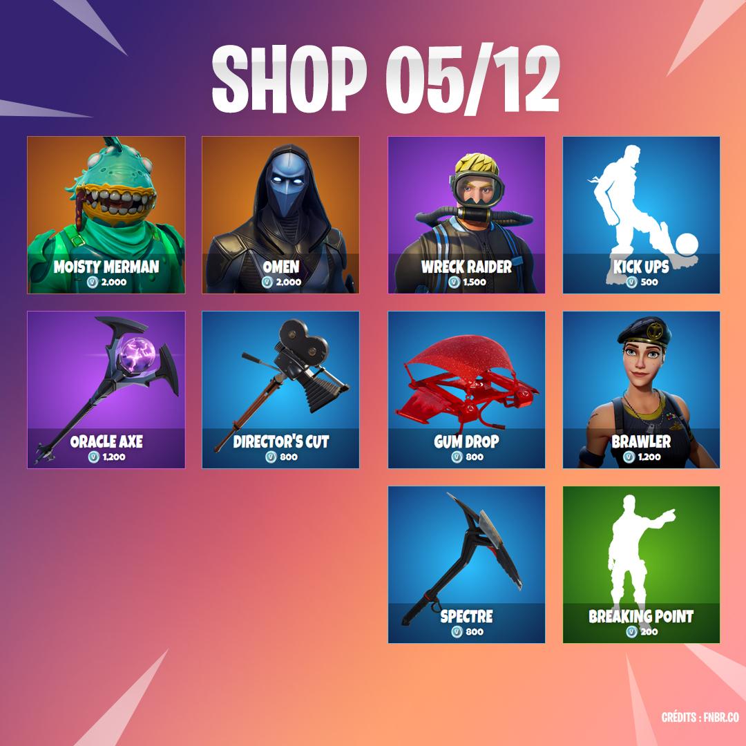 Boutique Fortnite 5 décembre - Breakflip - Actualité eSport et jeu vidéo 6952fb9210bc