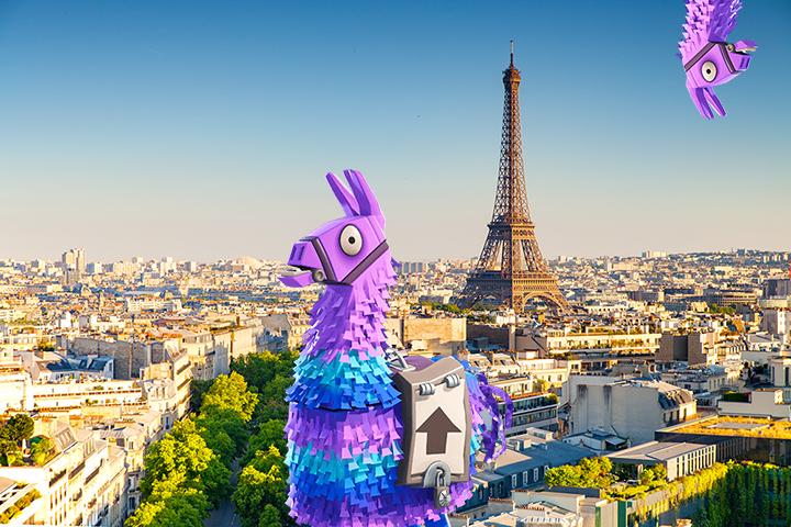 Fortnite des lamas dans des villes fran aises paris et cannes breakflip actualit esport - Lama pictures fortnite ...