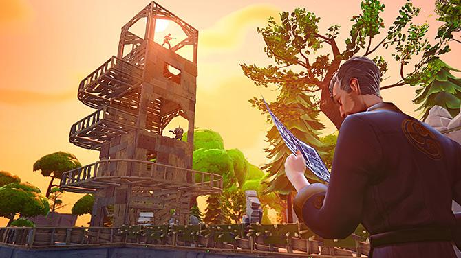 certains construisent de vrais chateaux forts durant les parties credits epic games - comment construire une porte sur fortnite