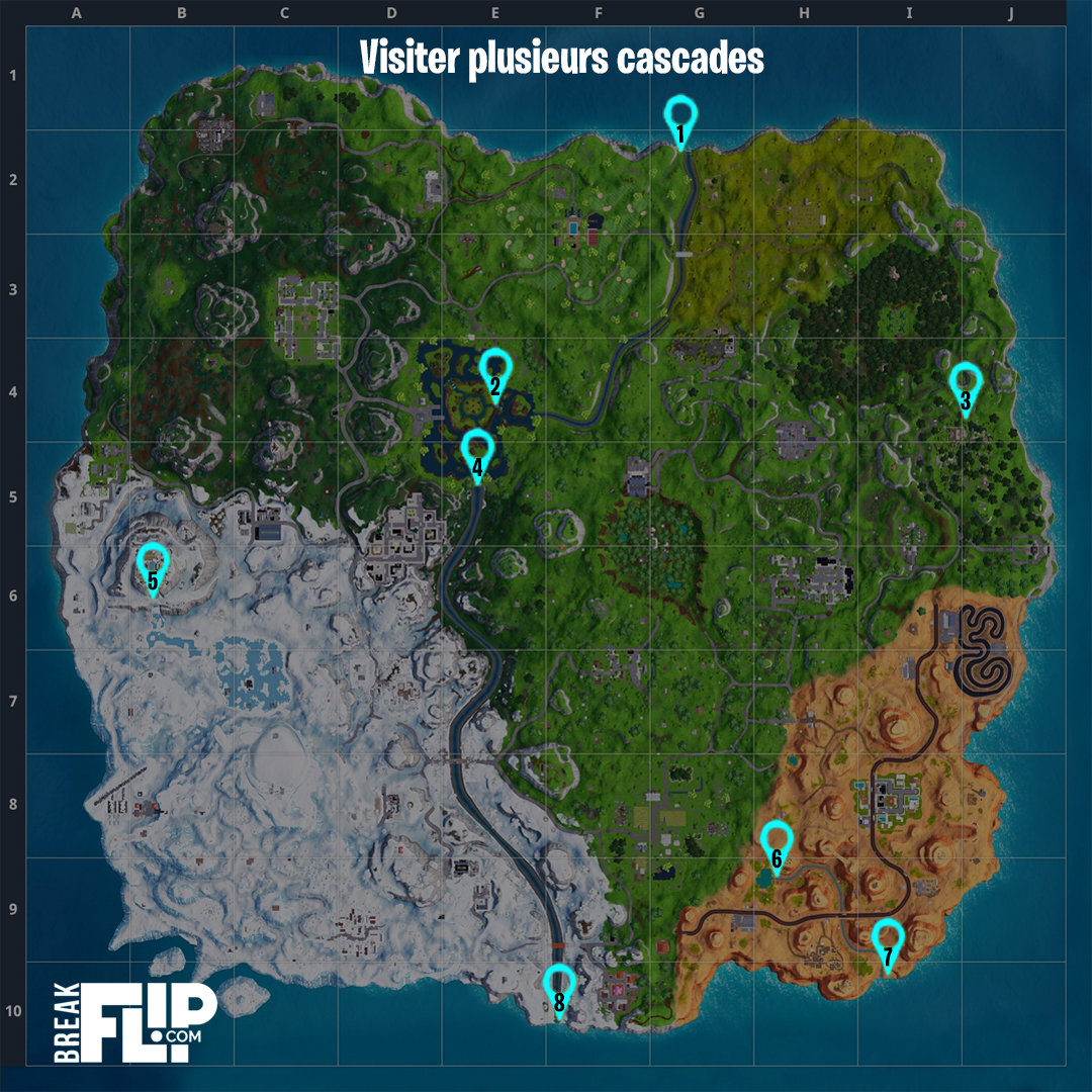 fortnite visiter plusieurs cascades d fis de l 39 ultime effort breakflip actualit esport. Black Bedroom Furniture Sets. Home Design Ideas