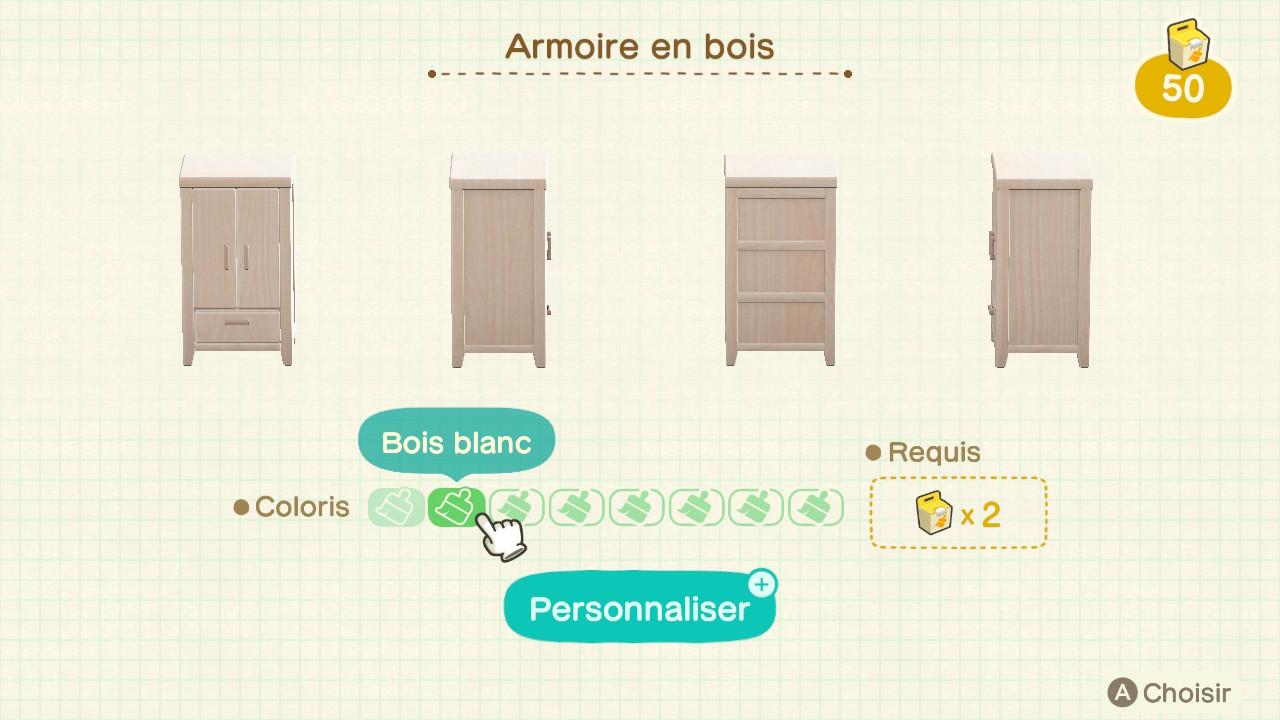 Animal Crossing New Horizons Personnaliser Ses Meubles Guide Et