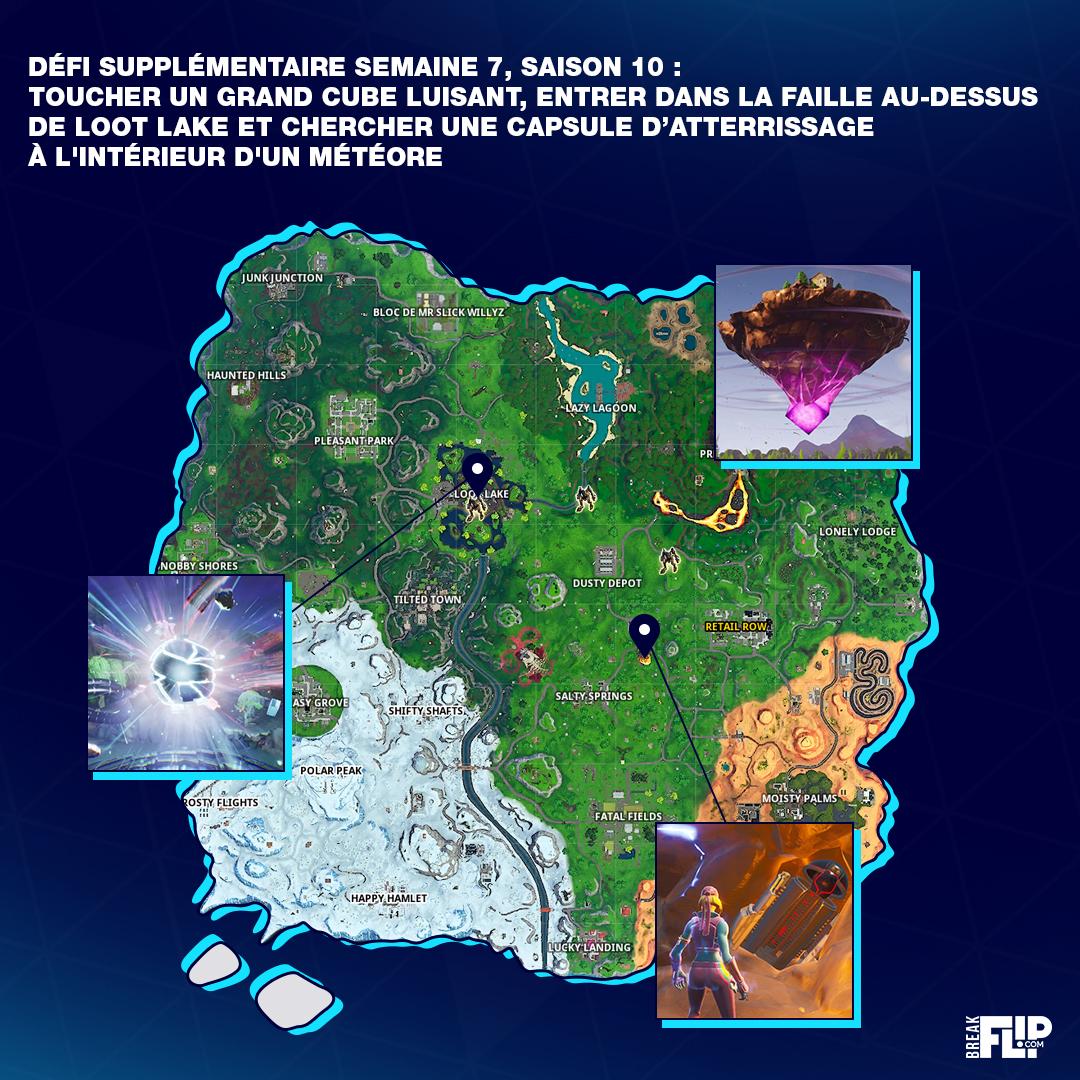 Fortnite   Toucher Un Grand Cube Luisant  Entrer Dans La