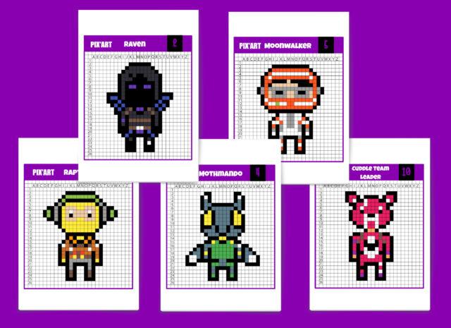Fortnite 2 Pixel Art Mode Créatif Dessins Et Images à