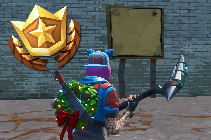 Panneau de carte au tresor fortnite junk junction