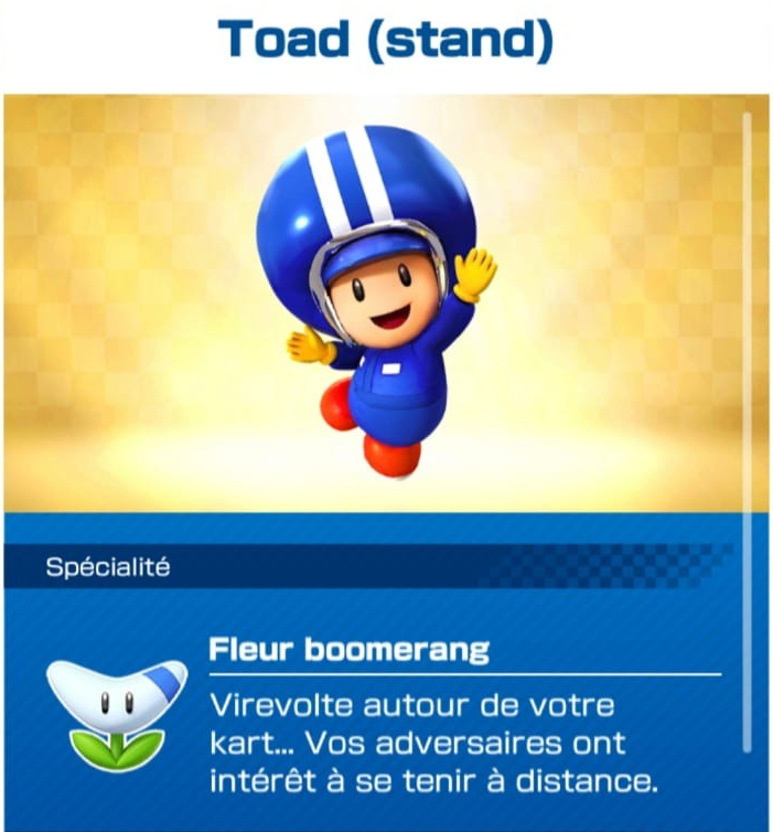 pilote-toad-stand