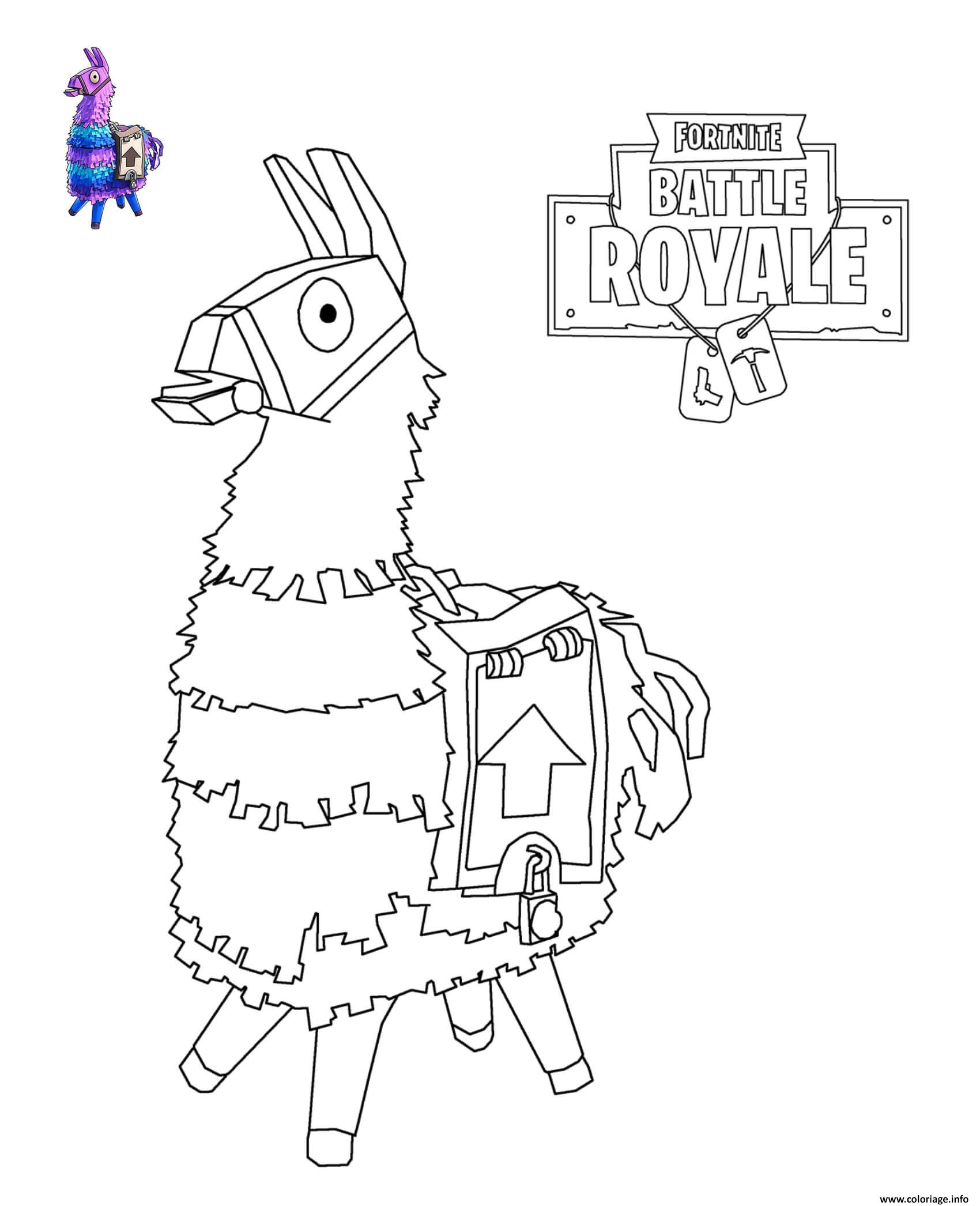 Coloriages Et Dessins Fortnite Lamas Rose Du Jeu Breakflip