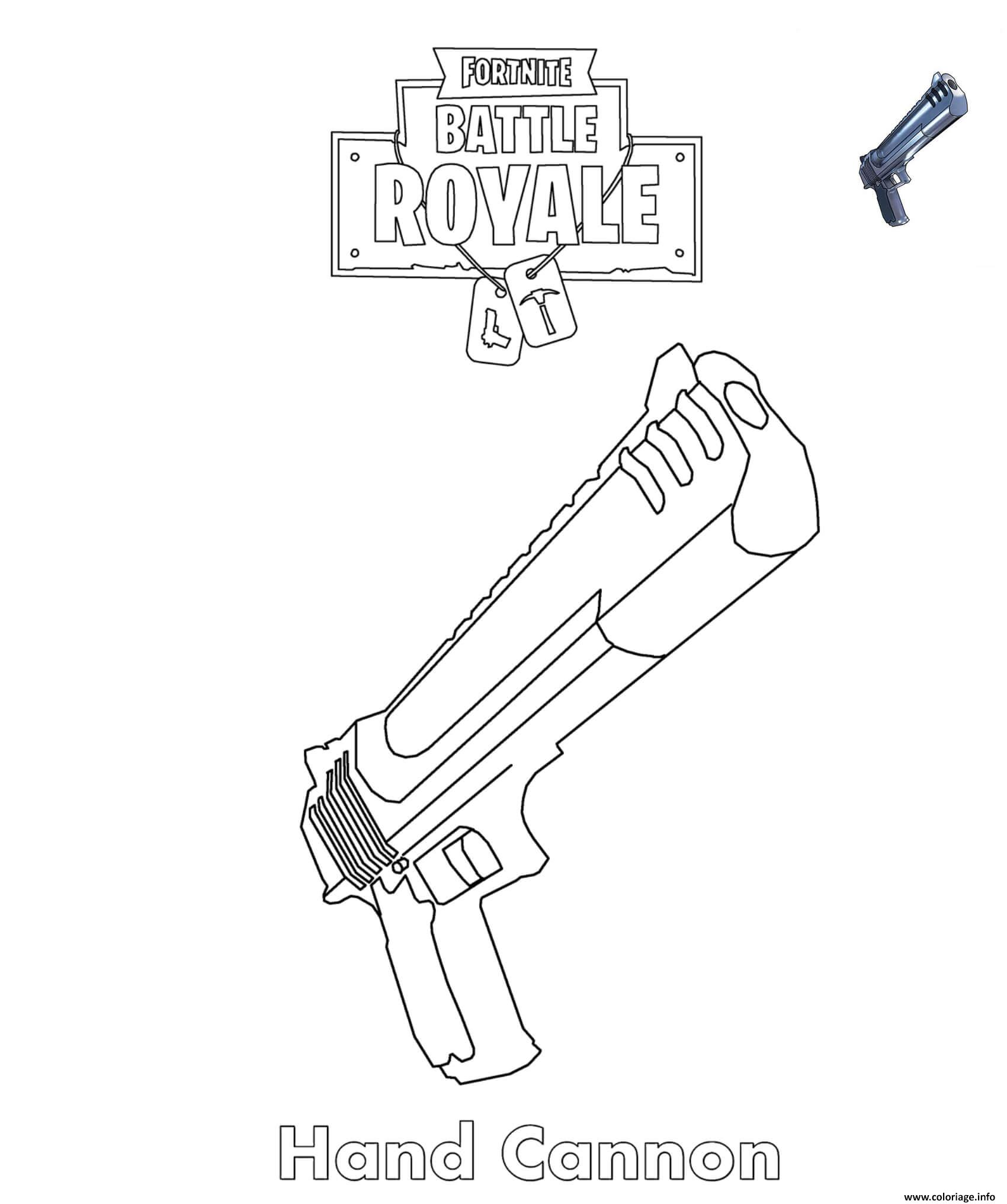 Coloriages Et Dessins Fortnite Armes Du Jeu Breakflip