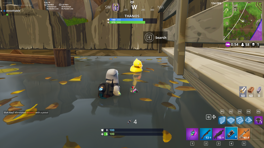 moisty mire credits aniothable - fortnite chercher les canard