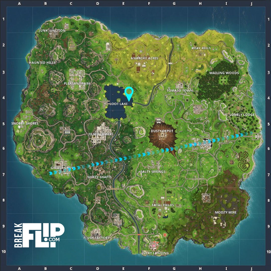 fortnite carte au tr sor tomato town d fi saison 4 breakflip actualit esport et jeu vid o. Black Bedroom Furniture Sets. Home Design Ideas