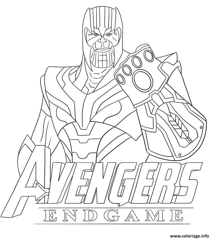 Coloriages Et Dessins Fortnite Thanos Et Avengers Breakflip