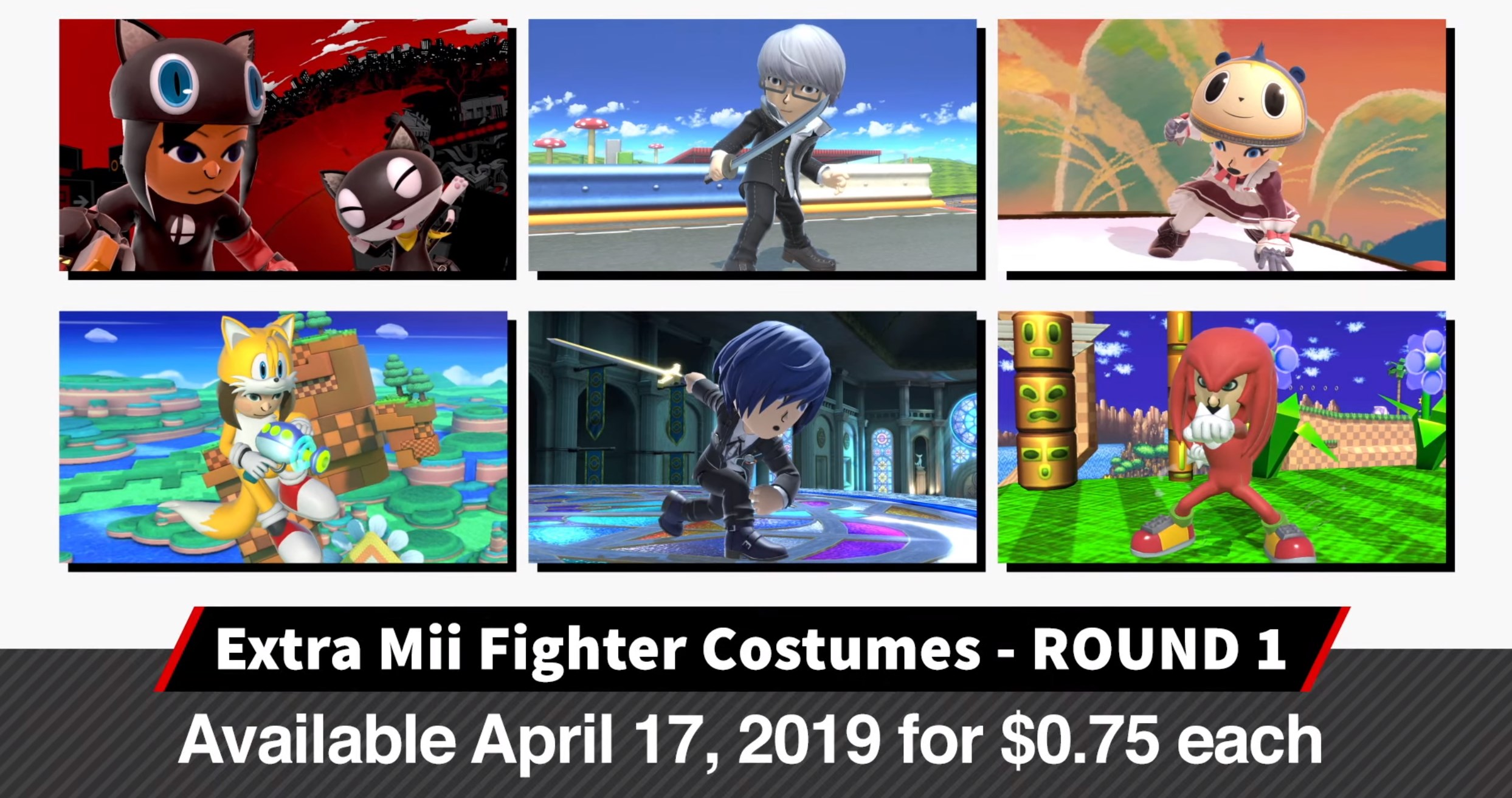 Super Smash Bros Ultimate Combattant Mii Costumes Persona